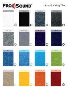 Ceiling tiles colours